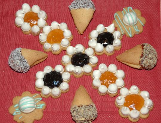 Kekse - Schneeblumen