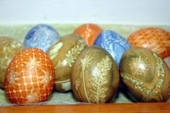Selbstgefärbte Ostereier