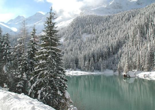 Winterlandschaft am Enzingerboden